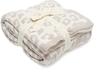 "Barefoot Dreams ""Barefoot in the Wild"" Throw Blanket - Leopard, Cream/Stone"