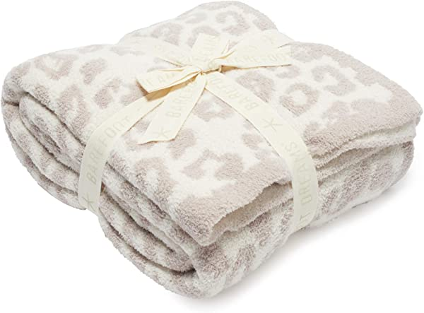 Barefoot Dreams Barefoot In The Wild Throw Blanket Leopard Cream Stone