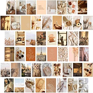 Neutral Wall Collage Kit Aesthetic Pictures, 50 Set 4x6 inch,Bedroom Decor for Teen Girls, Wall Art Prints for Room, Dorm ...