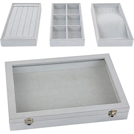 White Compartment Organizer Display Inserts For Jewelry Cases and Trays 1