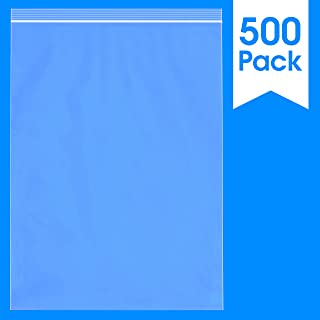 500 Count - 13 X 18, 2 Mil Clear Plastic Reclosable Zip Poly Bags with Resealable Lock Seal Zipper by Spartan Industrial (More Sizes Available)