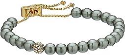 Cole Haan - Pearl Crystal Pave Ball Slider Bracelet