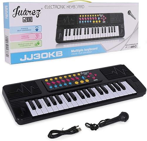 JUAREZ Junior 37 KEYS Multi function Electronic Keyboard Piano for Kids Black