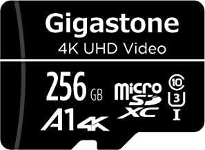 Gigastone 256GB Micro SD Card, 4K UHD Video, Surveillance Security CAM Action Camera Drone Professional, 95MB/s Micro SDXC UHS-I A1 Class 10