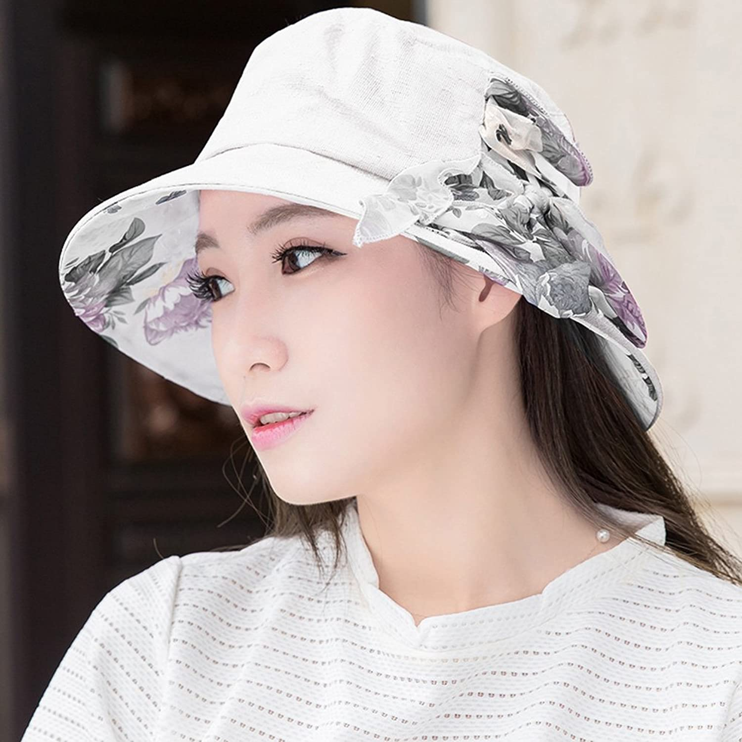 YD Hat Summer Hat, Women Sun Hats All-Match Sunscreen Floppy Foldable Packable, 16 colors Optional    (color   2 )
