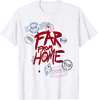 Marvel Spider-Man: Far From Home Travel Stamps T-Shirt