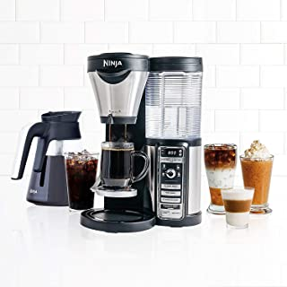 Ninja Coffee Bar with Glass Carafe and Auto-iQ One Touch Intelligence - CF080 (Renewed)