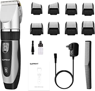 Cordless Hair Clippers for Men SUPRENT, Professional Hair Cutting Kit with 40 Lock-In Length,...