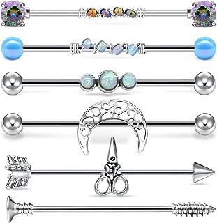 cool industrial piercing