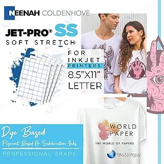 JET-PRO®SS JETPRO SOFSTRETCH HEAT TRANSFER PAPER 8.5 X 11