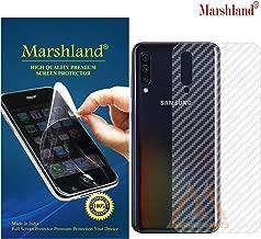 MARSHLAND 3D Carbon Fiber Flexible Back Screen Protector Anti Scratch Bubble Free Back Screen Guard Compatible for Samsung Galaxy A50