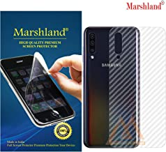 MARSHLAND 3D Carbon Fiber Flexible Back Screen Protector Anti Scratch Bubble Free Back Screen Guard Compatible for Samsung Galaxy A50 / A50S