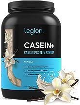 Legion Casein+ Vanilla Pure Micellar Casein Protein Powder - Non-GMO Grass Fed Cow Milk, Natural Flavors & ...