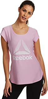 Reebok Women's Legend Running & Gym T-Shirt - Performance Short Sleeve Workout Clothes for Women - Orchid Day Heather, X-S...