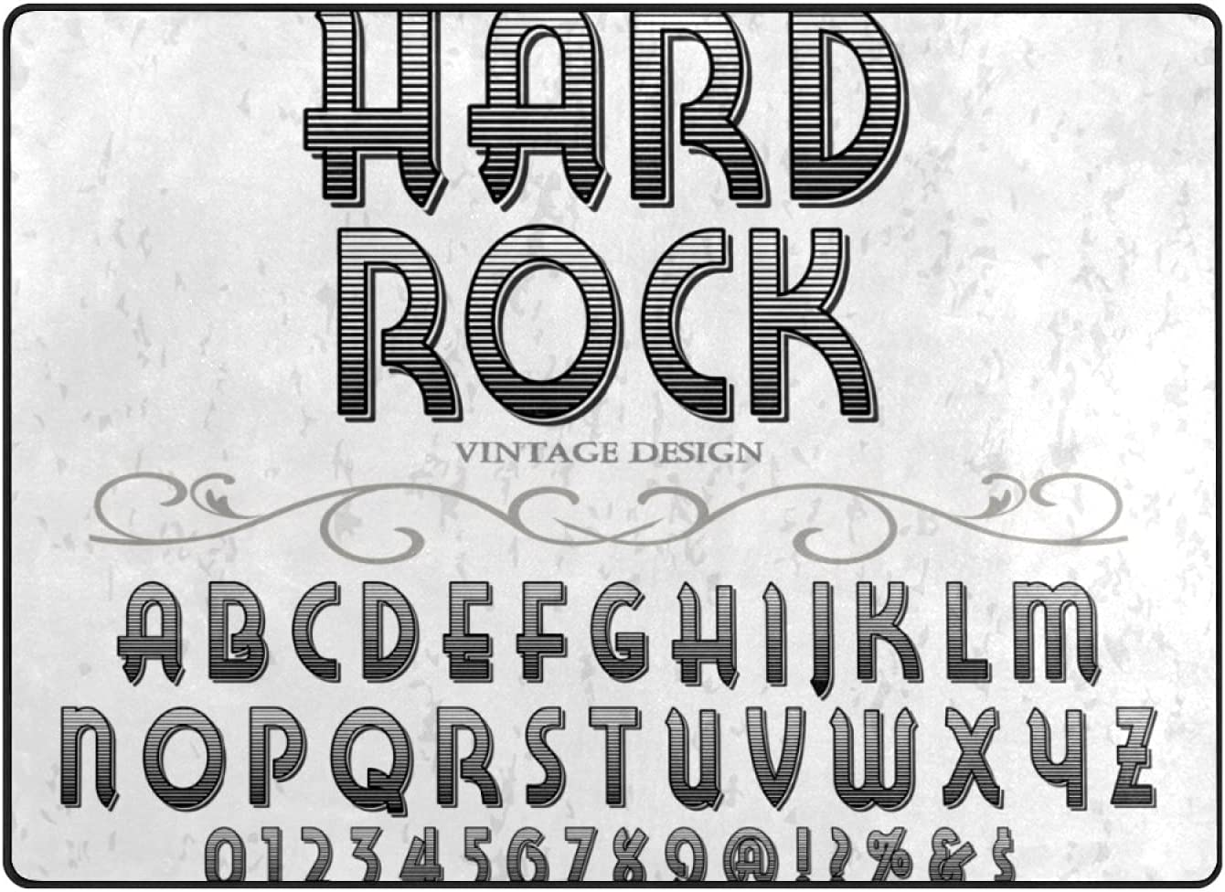 Decorative Font Label Design Named Vintage Rock Ultra-Cheap Deals Limited time for free shipping Soft and Fl Hard
