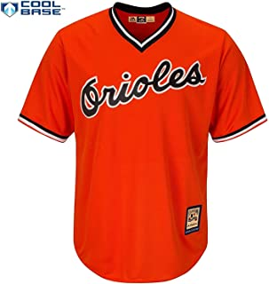Baltimore Orioles Orange Blank Youth Cool Base Cooperstown Pullover Jersey