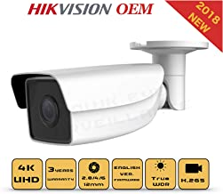4K PoE Security IP Camera - Compatible as Hikvision DS-2CD2T85FWD-I5 UltraHD 8MP EXIR Bullet Onvif Weatherproof 2.8/4mm Fixed Lens Best Home Business Security 3 Year Warranty (2.8mm)