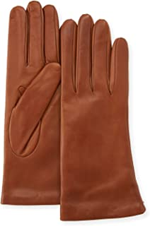 Saks Off Fifth Avenue Women's Leather Gloves, Cashmere-Lined 100% Sheepskin Leather Saddle ~ Size 7 ~