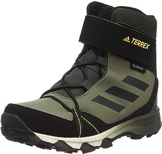 Adidas Terrex Snow CF C.RDY K, Scarpe da Trekking, Legacy Green/Core Black/Solar Gold, 36 2/3 EU