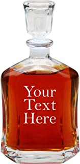 Personalized Liquor Decanter, Custom Engraved Glass Whiskey Decanter Gifts, with Name - 23.75 Oz