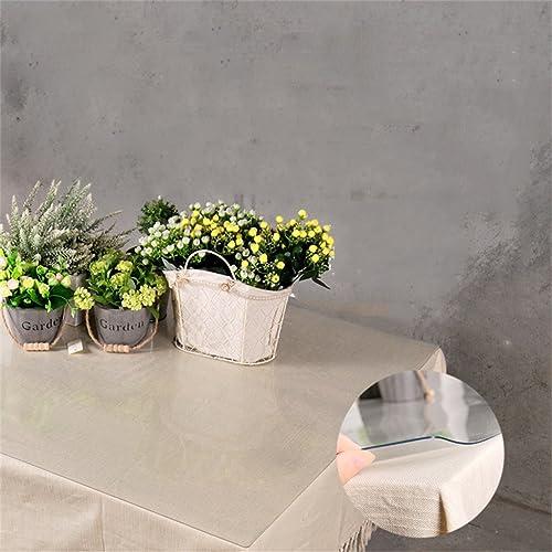 QIN PING GUO QPG PVC-tranSpaßente Tischdecke schrumpft Nicht Weiße Glasmatten Tee-Tischmatten Wasser- und  bwehr-Kristallplatte (Farbe   2.0mm Thickness, Größe   140  100)