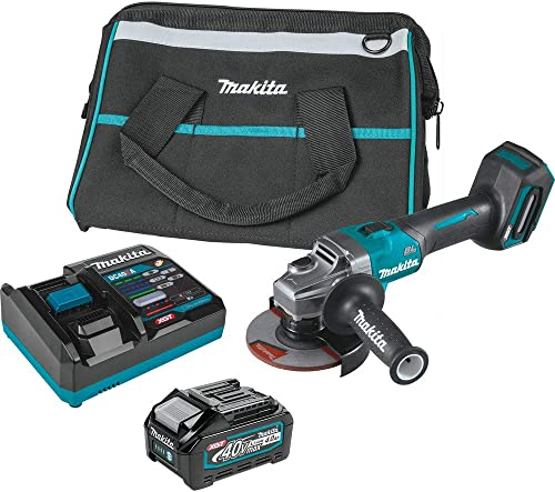 discount Makita GAG01M1 40V Max online XGT Brushless Lithium-Ion 4-1/2 in./5 in. Cordless Cut-Off/Angle Grinder Kit with Electric sale Brake (4 Ah) online sale
