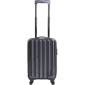 Eglemtek Valise cabine 55cm ABS ultra L/éger 4 roues- couleur noire Trolley /à coque dure