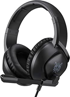 Gaming Headset for PS4,Nintendo Switch, PC with Mic - Surround Sound, Noise Reduction Game Earphone, Mute Switch- 3.5MM Ja...
