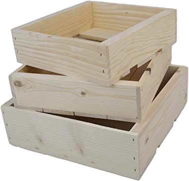 Poole & Sons Inc. Set of Three Nesting Pine Boxes or Crates