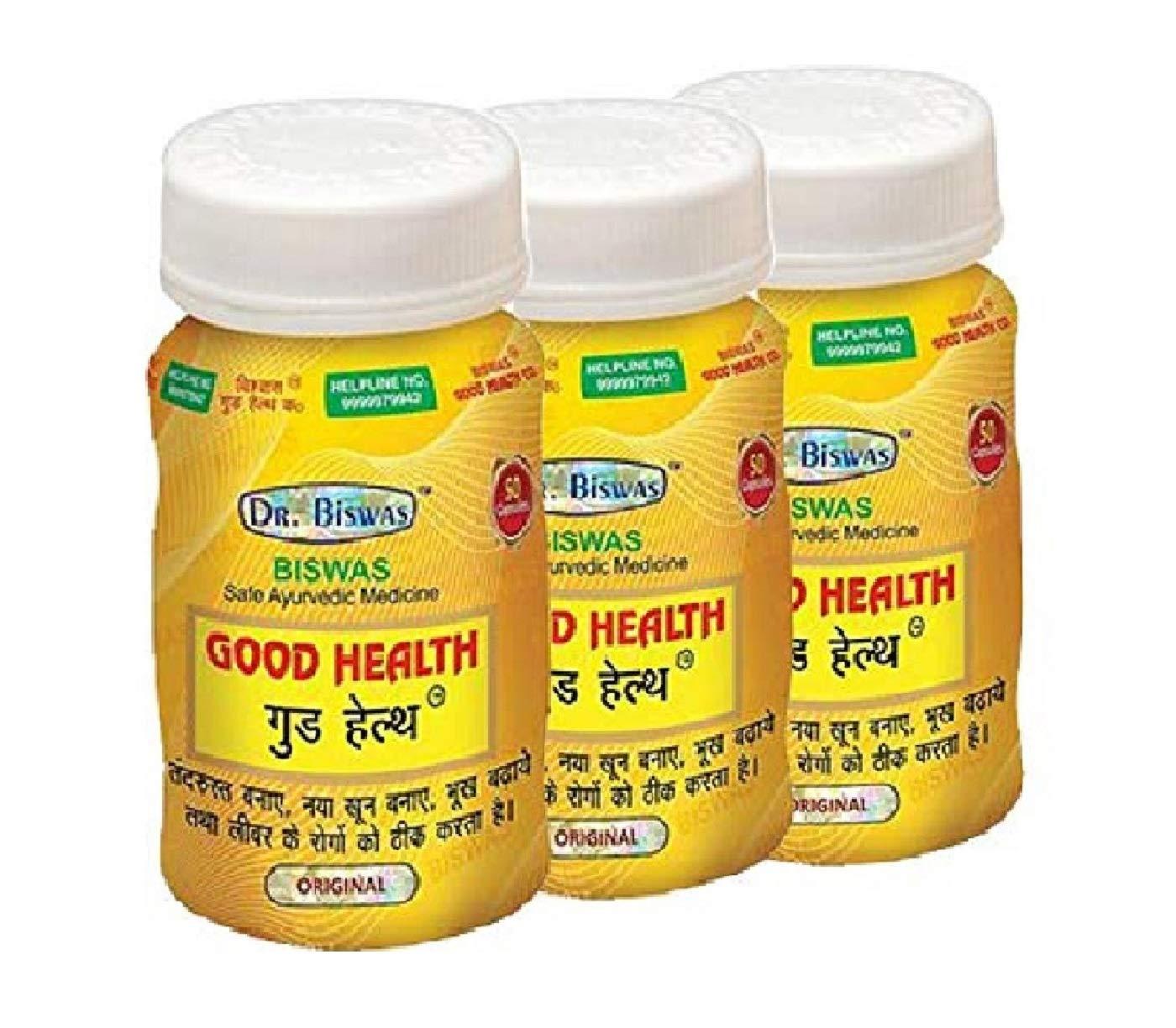 Dr. Biswas Ayurvedic Good Health - 50 Capsules, Pack of 3
