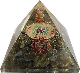Orgonite pyramide fleur de vie Labradorite (Puissante pour la protection et le bien-être)