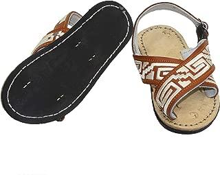 Bonus New! Kids Leather Mexican Two Strap PITEADO Bordado Sandals Huarache