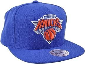 Mitchell & Ness New York Knicks NBA Team Logo Solid Wool Adjustable Snapback Hat