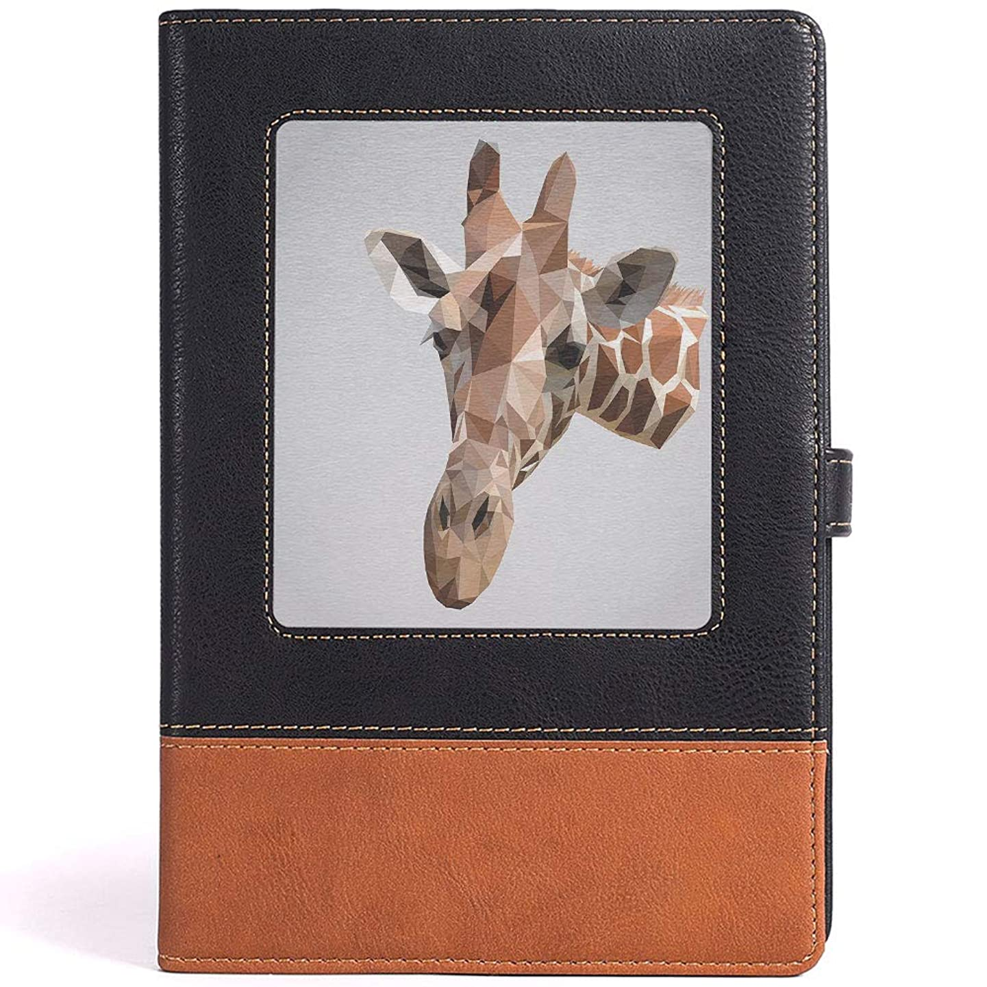 LEATHER JOURNAL Writing Notebook Animal Leather Notebook for Watercolor Painting,Size 6.1x8.6 in,A5