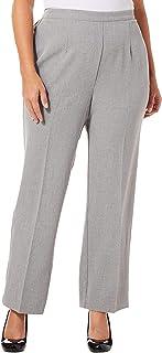 Alfred Dunner womens Plus full back elastic short length pant Pants