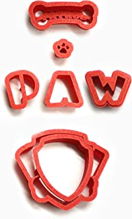Paw Patrol Logo Cookie Cutter Set, choose 2, 3, 4, 5.5, 7, 9, 11 by Hiding - place (3 inches)