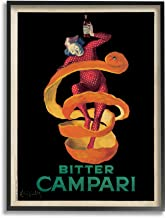 The Stupell Home Décor Collection Bitter Campari Orange Peel Vintage Inspired Poster Framed Giclee Texturized Art, 16 x 20, Multi-Color