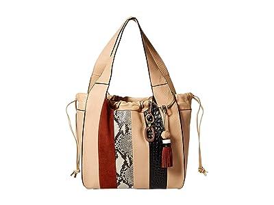 Vince Camuto Suni Shoulder Bag (Moccasin Stripe) Shoulder Handbags