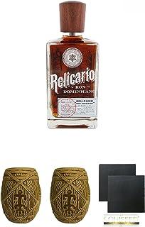 Relicario SUPERIOR Ron Domenicano Rum 0,7 Liter  Plantation MUG ohne Eichstrich 1 Stück  Plantation MUG ohne Eichstrich 1 Stück  Schiefer Glasuntersetzer eckig ca. 9,5 cm Durchmesser 2 Stück
