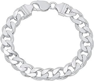 Best mens silver curb bracelet Reviews