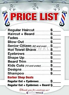 Barber Shop Price List by BARBERWALL - Barber Poster - Barber Shop Poster - 36 x 24 Laminated