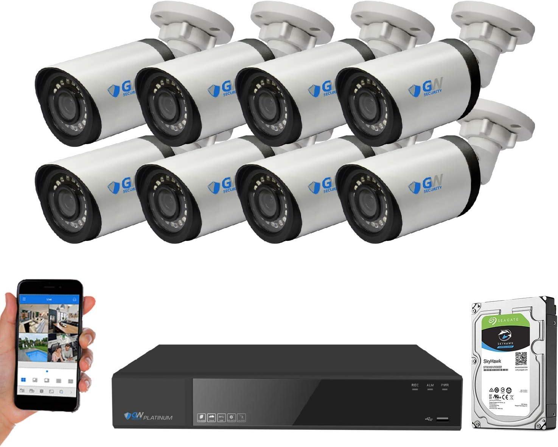 GW Security 8 Channel Popular overseas 4K NVR 8MP Time sale Vi H.265+ Starlight Color Night
