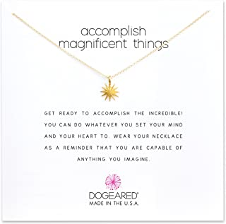 Dogeared Accomplish Magnificent Starburst Necklace in Gold Dipped, MRGG100104500