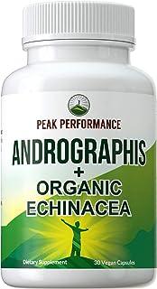 Sponsored Ad - Andrographis + Echinacea Vegan Capsules - Made with Organic Echinacea + Pure Andrographis Paniculata (Nilav...