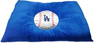 MLB PET Bed - Los Angeles Dodgers Soft & Cozy Plush Pillow Bed. - Baseball Dog Bed. Cuddle, Warm Sports Mattress Bed for Cats & Dogs