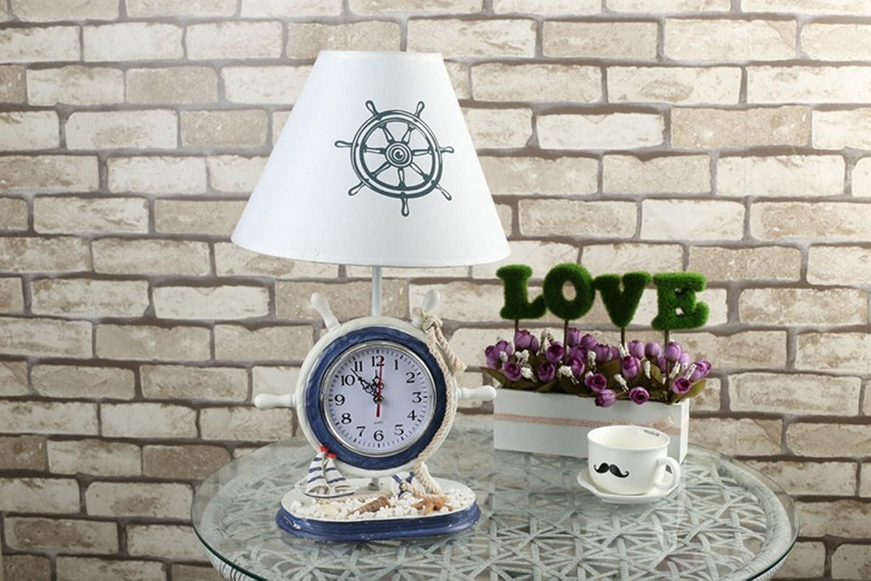 HRMAOI,Geschenke, Nachttischlampen, moderne Art und Weise, Ocean-Serie, Uhr Stil, Kreativitt, Schlafzimmer, Dekoration, Tischlampe, 44CM
