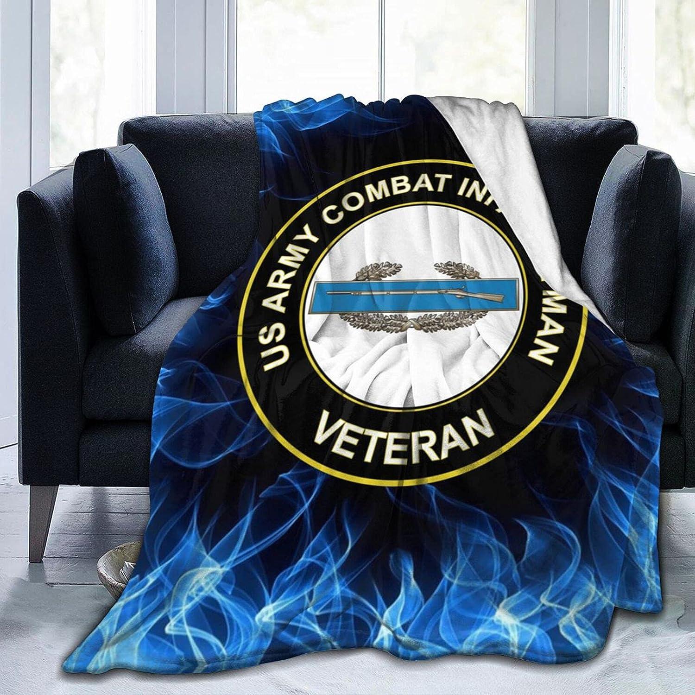 Reservation Us Army Combat Infantryman NEW before selling ☆ CIB 1st Award Flannel Blanket Veteran