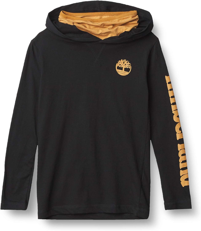 Timberland Boys' Hoodie Sweatshirt with Gaiter Facemask