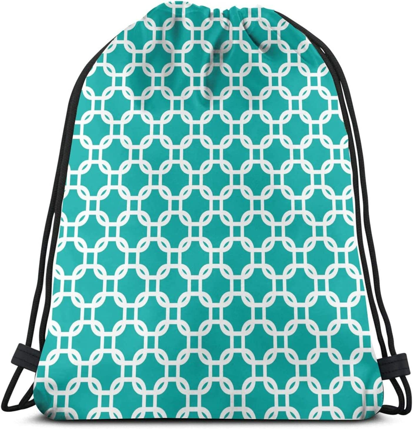 Chain Link Drawstring Backpack 16.5