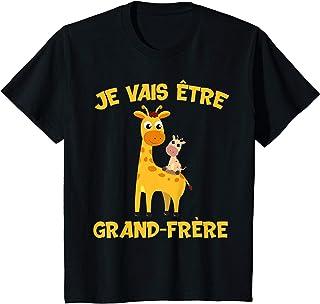 Enfant Je vais être grand frère girafe cadeau grossesse girafes T-Shirt